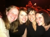 The photographer and friends with Luscious Jackson playing